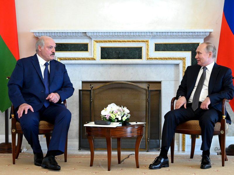 Spotkanie Aleksandra Łukaszenki i Władimira Putina w Sankt Petersburgu, źródło: en.kremlin.ru (CC BY 4.0)