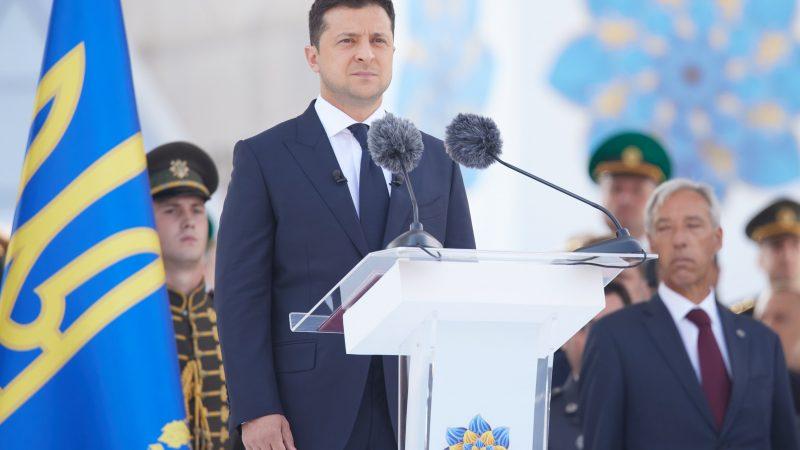 Ukraina, Wołodymyr Zełenski, obchody, 30-lecie niepodległości