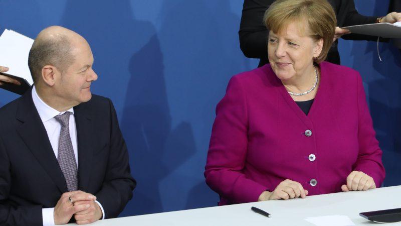 Olaf Scholz, Angela Merkel, SPD, CDU, Niemcy