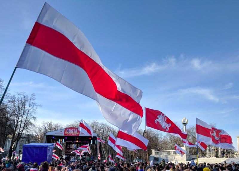 Agencja prasowa BiełaPAN relacjonowała przebieg wszystkich opozycyjnych protestów na Białorusi, źródło: Wikipedia, fot. Viktar Palstsiuk (CC BY-SA 4.0)