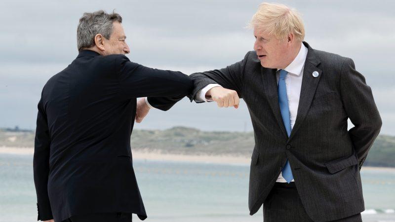 Mario Draghi, Boris Johnson, Włochy, Wielka Brytania