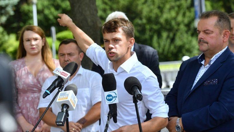 Lider AGROunii Michał Kołodziejczak, źródło twitter @AGROunia za portalspozywczy