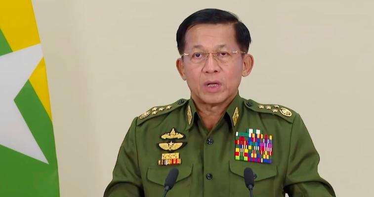Przywódca birmańskiej junty gen. Min Aung Hlaing, źródło: Human Rights Watch