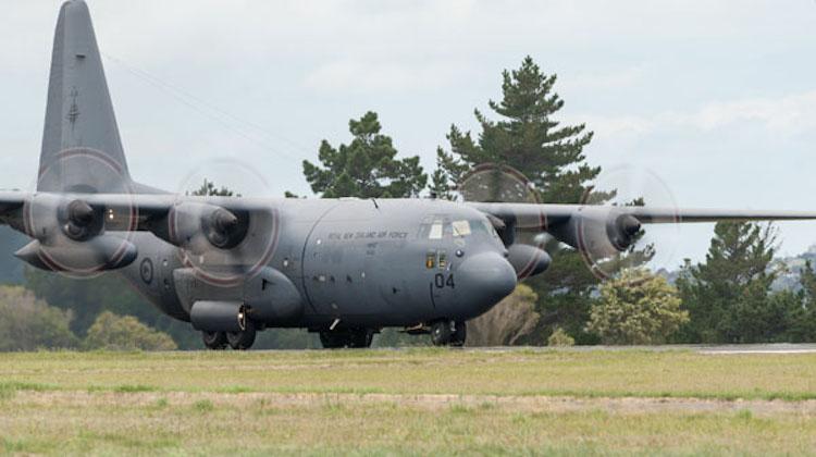 Samolot typu C-130H Hercules, źródło: New Zealand Air Force/CC BY 2.0