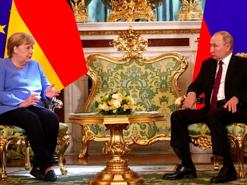 Spotkanie Angeli Merkel i Władimira Putina w Moskwie, źródło: en.kremlin.ru (CC BY 4.0)