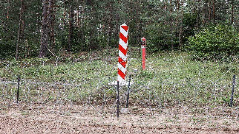 Zasieki na granicy Polski z Białorusią, źródło KPRM