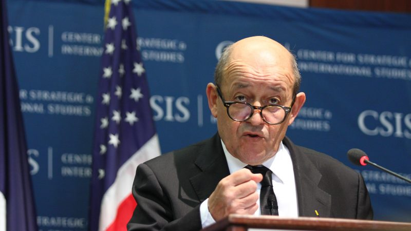 Minister spraw zagranicznych Francji Jean-Yves Le Drian, źródło: Flickr/CSIS: Center for International and Strategic Studies (CC BY-NC-SA 2.0)