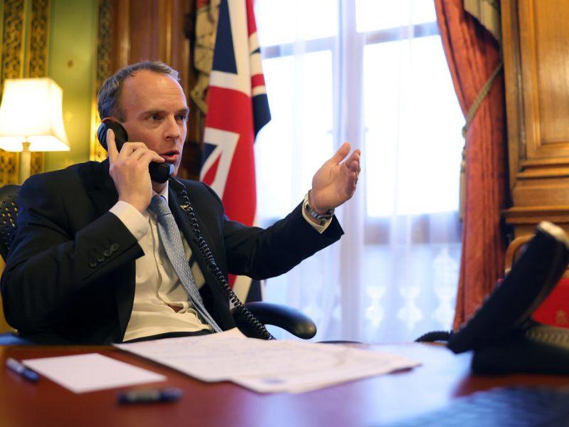 Odwołany brytyjski minister spraw zagranicznych Dominic Raab, źródło: Flickr/Number 10, fot. Pippa Fowles