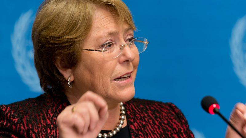 Wysoka Komisarz ONZ ds. Praw Człowieka Michelle Bachelet, fot. M. Creuset (ILO)/(CC BY-NC-ND 2.0)