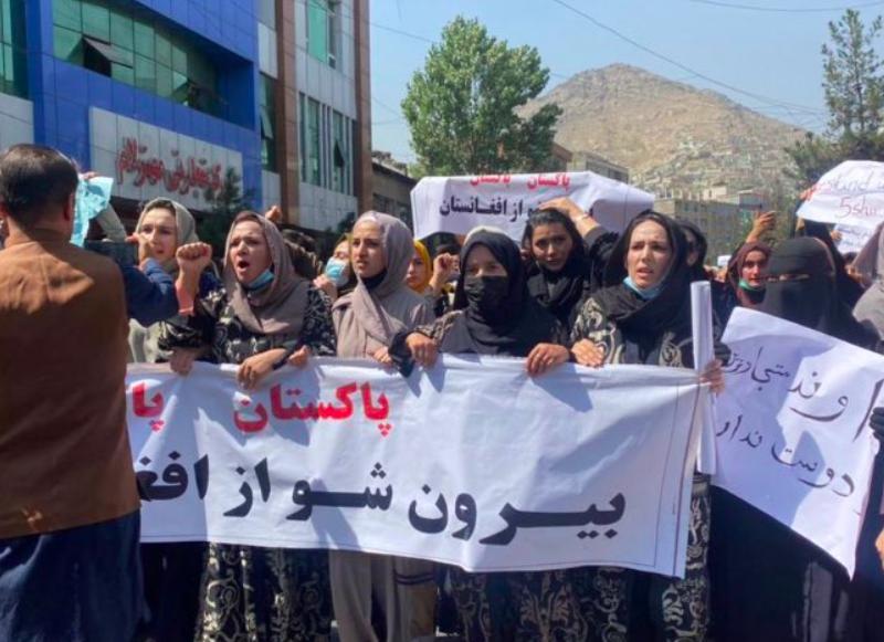Antypakistański protest w Kabulu, źródło: Twitter/Habib Khan (@HabibKhanT)