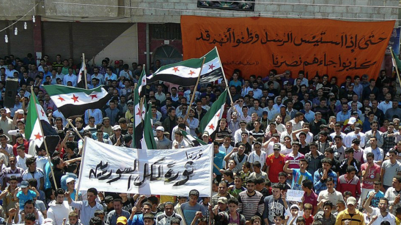 Antyrządowy protest w mieście Dara w południowej Syrii, źródło: Flickr/Freedom House (CC BY 2.0)