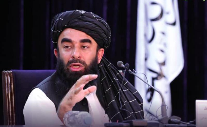 Główny rzecznik afgańskich talibów Zabihullah Mudżahid, źródło: GMIC Afghanistan (www.gmic.gof.af)