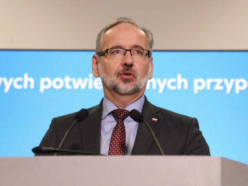 Minister zdrowia Adam Niedzielski, źródło: Twitter/Ministerstwo Zdrowia (@MZ_GOV_PL)