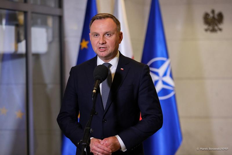 Prezydent Andrzej Duda w BBN o przedłużeniu stanu wyjątkowego, źródło Marek Borawski KPRP