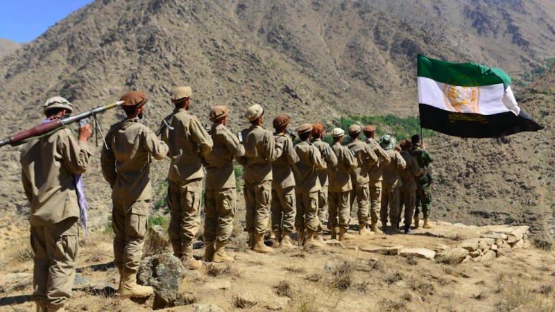 Żołnierze Narodowego Frontu Oporu w Dolinie Pandższiru, źródło: Twitter/Panjshir_Province (@PanjshirProvin1)