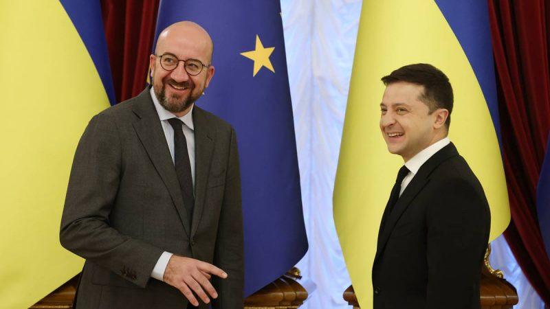UE, Ukraina, Charles Michel, Wołodymyr Zełenski, Unia Europejska, szczyt