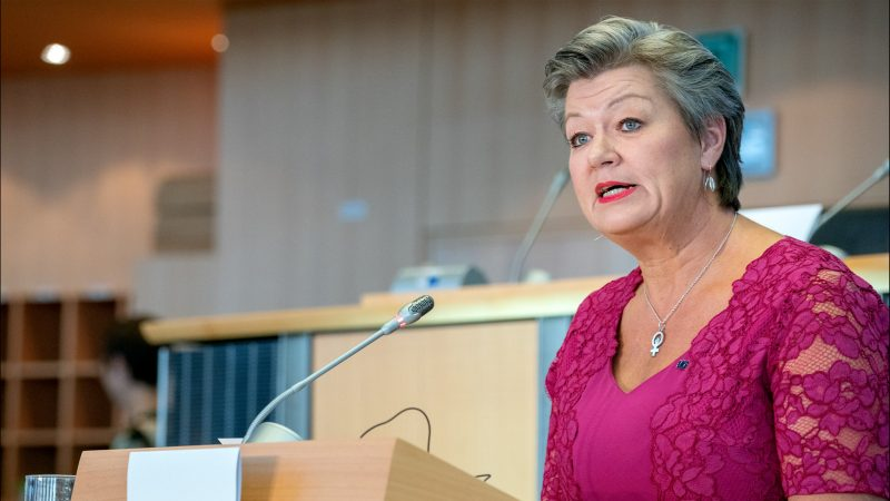 Ylva Johansson, Komisja Europejska, Mariusz Kamiński, Frontex, Białouruś, migranci, Usnarz Górny