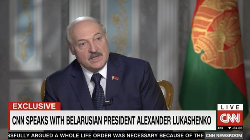 Aleksander Łukaszenka udzielił wywiadu amerykańskiej telewizji CNN, źródło: CNN