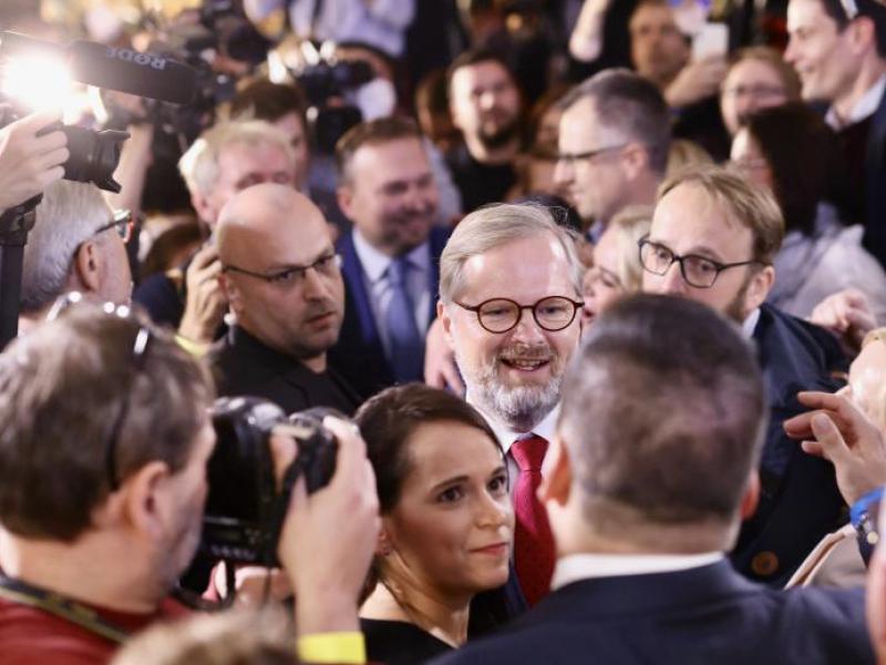 Lider ODS Petr Fiala (w środku) będzie nowym premierem Czech?, źródło: Twitter/Petr Fiala (@P_Fiala)