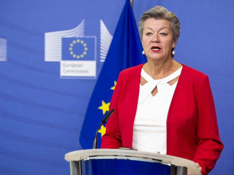 Komisarz UE ds. wewnętrznych Ylva Johansson, źródło: EC - Audiovisual Service/European Union 2021, fot. Łukasz Kobus