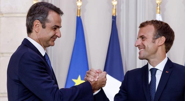 Premier Grecji Kyriakos Mitsotakis i prezydent Francji Emmanuel Macron, źródło: Instagram/Kyriakos Mitsotakis (@kyriakos_)