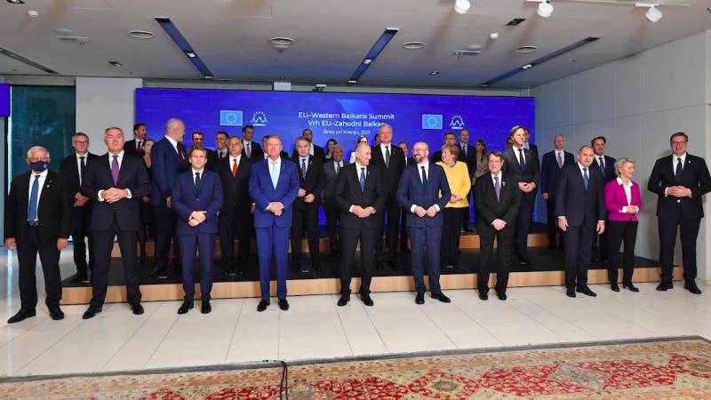 Uczestnicy szczytu UE-Bałkany Zachodnie w Słowenii, źródło: Twitter/Janez Janša (@JJansaSDS)